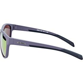 Alpina Nacan II Gafas, nightshade matt-black/purple mirror